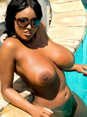 Is this busty ebony whore a bitch or what?