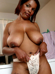 Depraved ebony whores flashing tits and rubbing old pussies