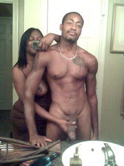 Amateur black couple fron New York, nude and always ready..