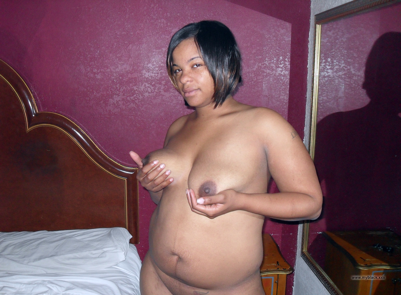 image Single mother bbw with saggy titties gets tit fucked